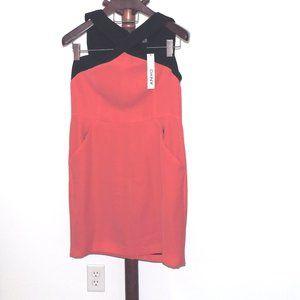 DKNY black and pink sleeveless sheath dress